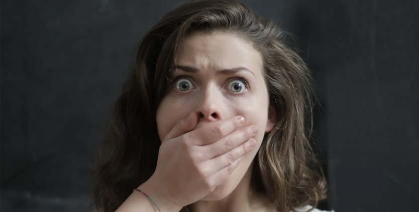 Expresión de emociones miedo