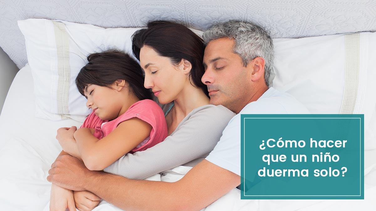 Cómo hacer que un niño duerma solo en su habitación