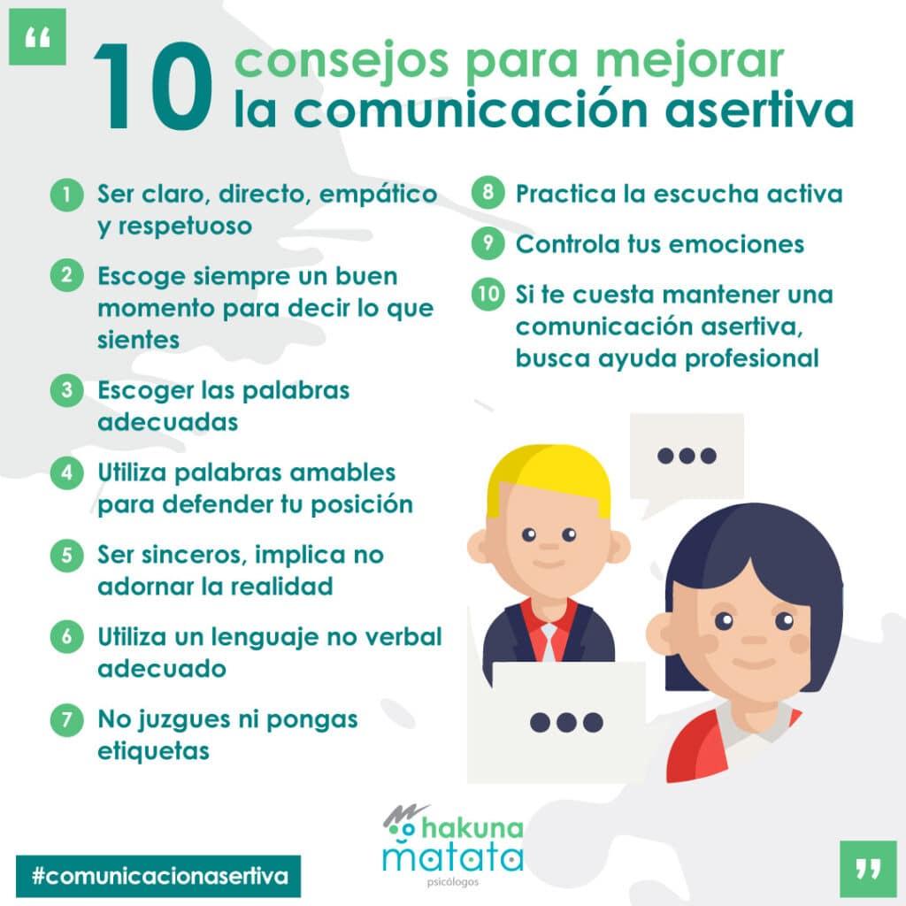 Consejos para mejorar la comunicación asertiva