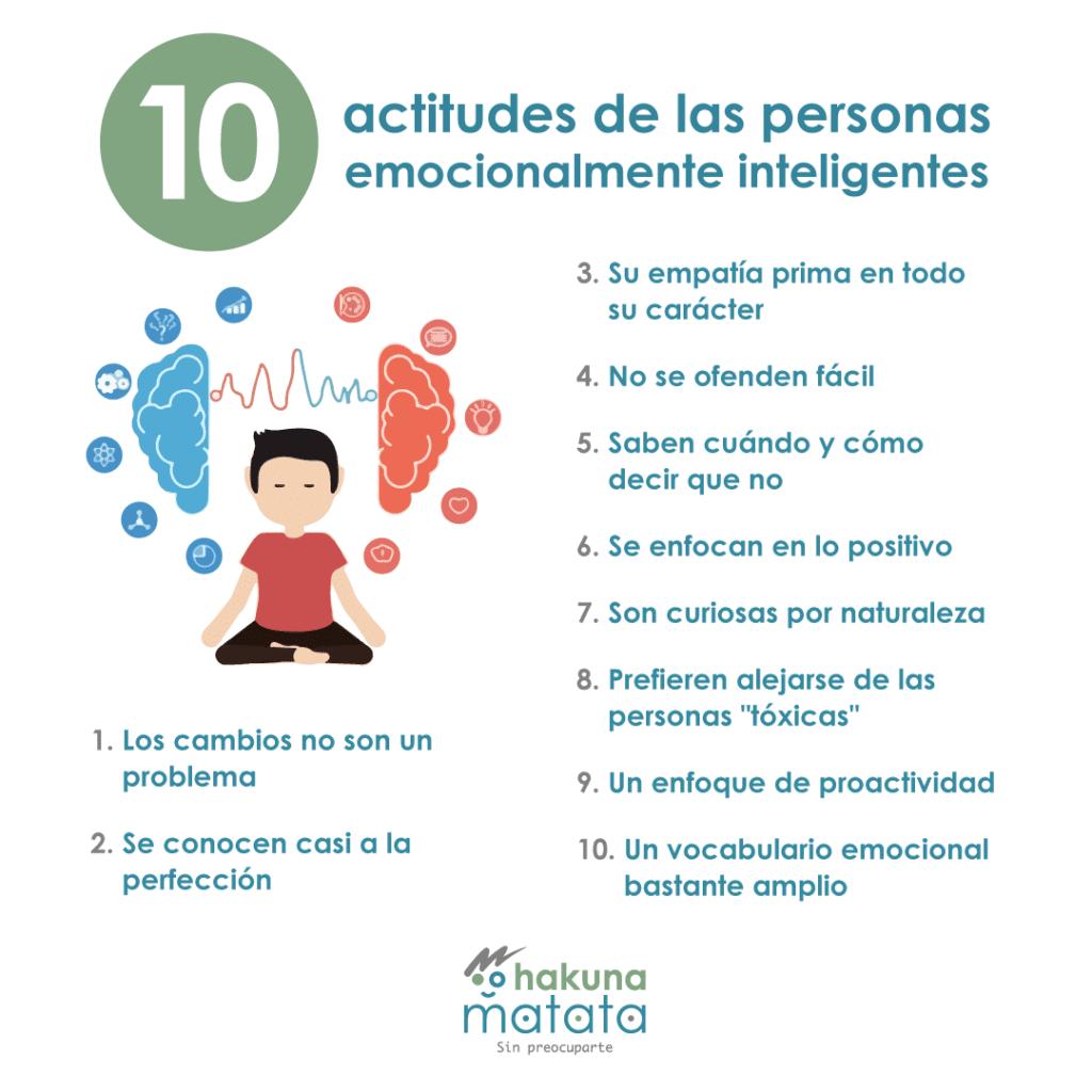 Actitudes de personas emocionalmente inteligentes