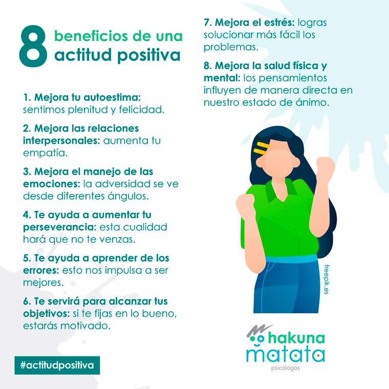 8 beneficios de una actitud positiva