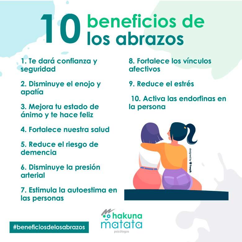 10 beneficios de los abrazos