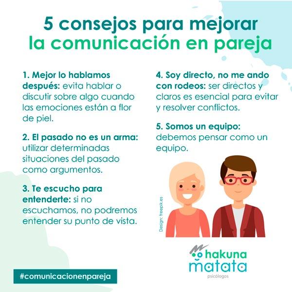 Consejos para mejorar la comunicacion en pareja