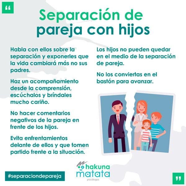Separación de pareja con hijos