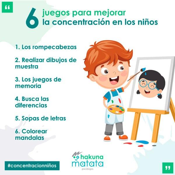 Juegos para mejorar la atención en niños