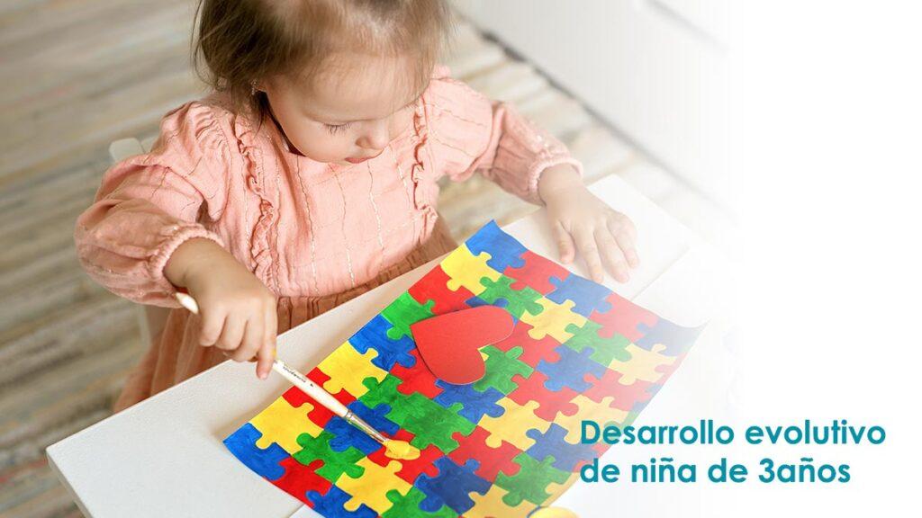 Desarrollo evolutivo niña de 3 años