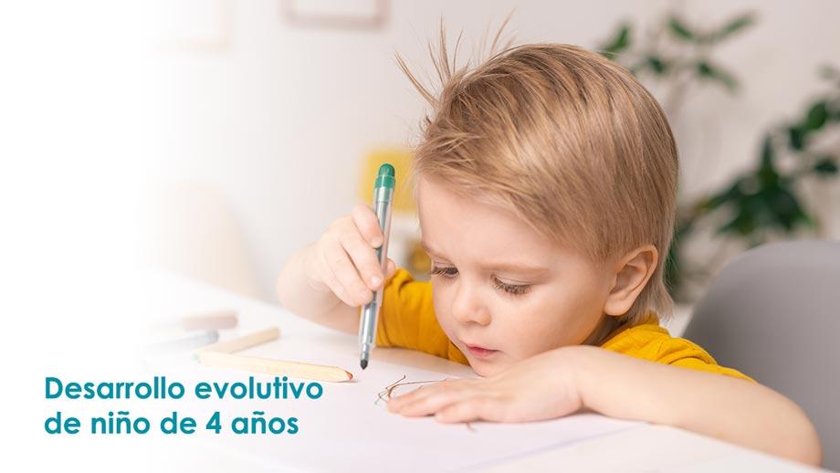 Desarrollo evolutivo niño de 4 años