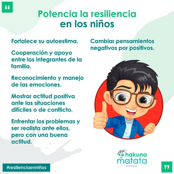 Características que se deben potenciar para trabajar la resiliencia con los niños